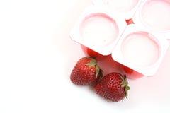 truskawkowy jogurt Zdjęcie Royalty Free