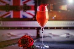 Truskawkowy Margarita koktajl zdjęcie royalty free