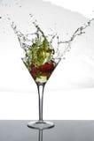 Truskawkowy Martini pluśnięcie Obraz Royalty Free