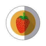 Truskawkowy owocowy ikona wizerunek Obrazy Stock