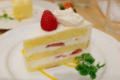 Truskawkowy shortcake Obrazy Royalty Free