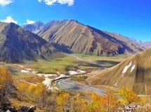 Truso Valley Trek, Kazbegi Georgia Stock Photo
