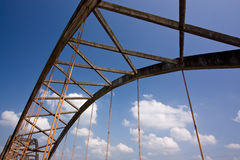 Truss bridge. In blue sky Stock Photography