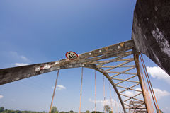 Truss bridge. In blue sky Stock Photos