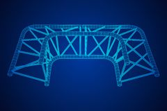 Truss girder element Royalty Free Stock Images