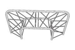Truss girder element Royalty Free Stock Photography
