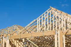Truss Roof Construction Stock Photography