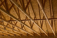 Truss Roof Construction Royalty Free Stock Photography