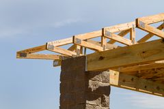Truss Roof Construction Royalty Free Stock Photos