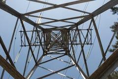 Truss support high-voltage power line Stock Photos