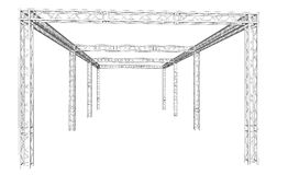 Free Truss System Royalty Free Stock Images - 62437669