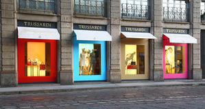 Trussardi商店在米兰,意大利 库存图片