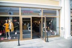 Trussardi cajgów sklep w Parndorf, Austria zdjęcia stock