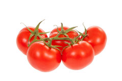 Trusse Tomatoes with clipping path Stock Image