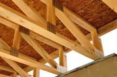 Trusses Above Basement Royalty Free Stock Images