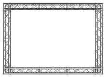 Trusses construction stainless steel decorative border vector illustration