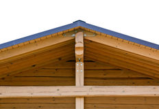 Trusses on roof of home Stock Photos