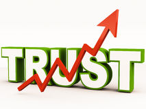 Trust. Rise of trust, goodwill or good faith, for a business, trust is one asset that works for the long term in getting successful customer base, trust can also vector illustration