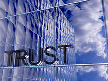 Trust. Front side of a business building Royalty Free Stock Photography