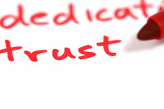 Trust. Written in red with marker Royalty Free Stock Image