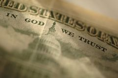 Trust. Detail of money showing the work In God We Trust Stock Photo