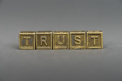 Trust blocks Royalty Free Stock Photo