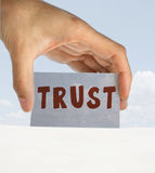 Trust. Business executive demands our trust. Space for text Royalty Free Stock Photos
