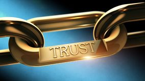 Trust chain as business concept Royalty Free Stock Image
