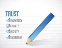 Trust check mark list list illustration design Royalty Free Stock Image