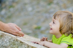 Trust of a Child Royalty Free Stock Images