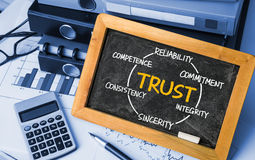 Trust circle, business concept Royalty Free Stock Image