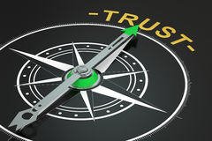 Trust compass concept Stock Photography
