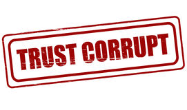 Trust corrupt Royalty Free Stock Image