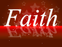 Trust Faith Indicates Believe In And Trustfulness Royalty Free Stock Photos