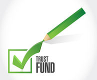 Trust fund approval check mark sign concept Royalty Free Stock Photography