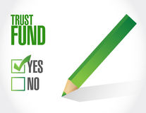 Trust fund approval sign concept Stock Images
