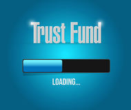 trust fund loading sign concept illustration Royalty Free Stock Photo