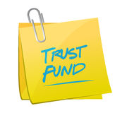 Trust fund memo post sign concept illustration Royalty Free Stock Photography