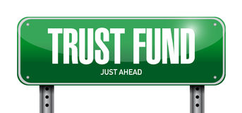 Trust fund road sign concept illustration Royalty Free Stock Photo