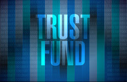 Trust fund sign concept illustration Royalty Free Stock Photo