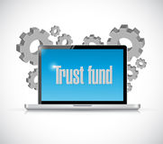 Trust fund technology sign concept Royalty Free Stock Photos