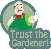Trust the gardener Stock Photo