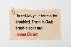 Trust in God. In Jesus Christ. Holy Bible royalty free stock photo
