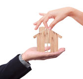 Trust Hand with house Stock Images