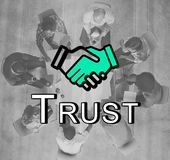 Trust Handshake Partnership Coooperation Graphic Concept Royalty Free Stock Images