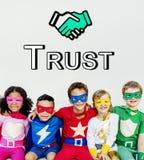Trust Handshake Partnership Cooperation Graphic Concept Stock Image