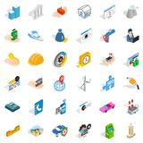 Trust icons set, isometric style. Trust icons set. Isometric style of 36 trust vector icons for web isolated on white background Royalty Free Stock Photography