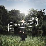 Trust Instinct Feeling Follow Wisdom Inspiration Concept Stock Photography