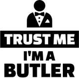 Trust me I`m a butler royalty free illustration