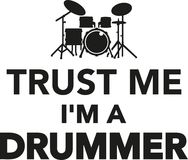 Trust me I`m a drummer Royalty Free Stock Photos
